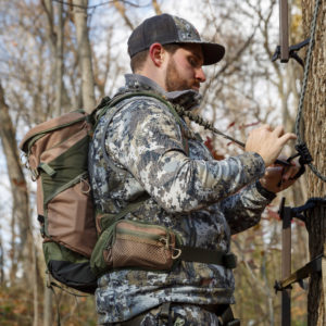 Elevation Canopy Tri Zip Hunting Pack Lifestyle